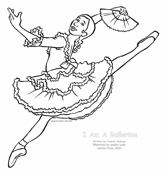 print this page - Ballerina Coloring Pages