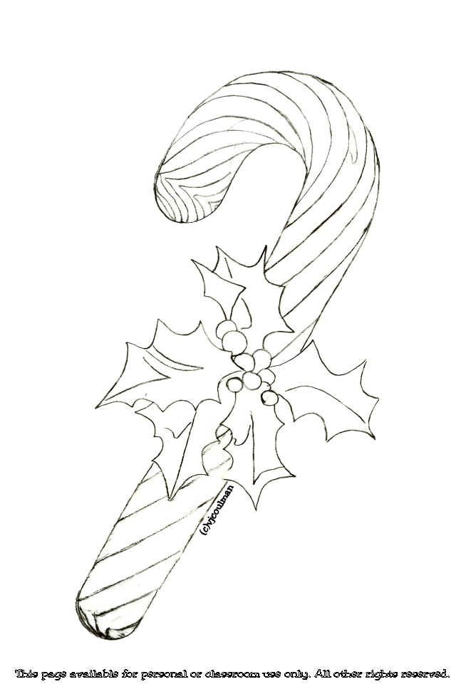 candy cane ornaments coloring pages - photo#22