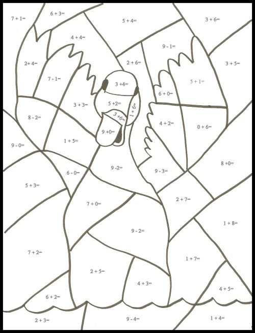 math facts coloring pages - photo#26